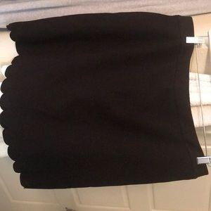 NWT Maison Jules scallop black skirt